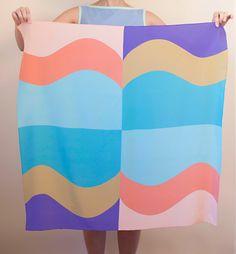 Kristin Renner Wave Print Silk Scarf