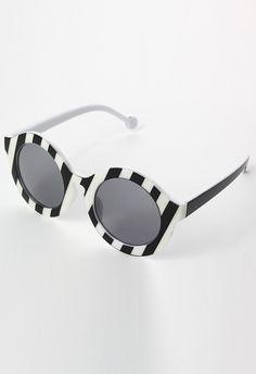 Zebra Pattern Round Sunglasses