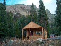 Camping hut in Colorado State Forest State Park- $75 a night