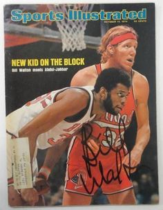 Featured is a Signed Bill Walton Portland Trail Blazers NBA October 14, 1974 Sports Illustrated Magazine! This magazine was signed by Walton and is authenticated by JSA with an Auction House Letter of