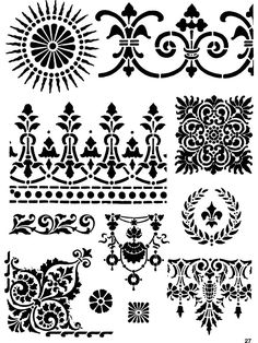 Decorative Stencil Designs - Dover Publications