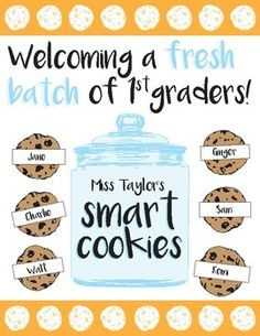 Beginning of the year bulletin board printable: Welcoming a Fresh Batch of students!