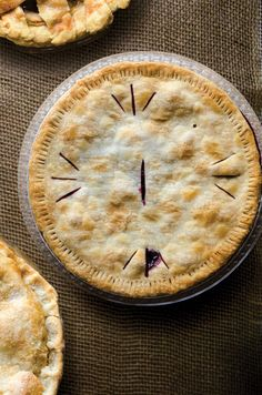 Boysenberry Pie - Blackberries or raspberries can be substituted for boysenberries in the filling for this jammy pie. http://www.saveur.com/article/recipes/Boysenberry-Pie