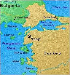 Map Of Troy This map shows the proximity of Troy to the Greeks. Based on the