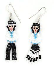 Beaded Couple Earrings