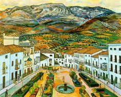 Jardín del museo. Rafael Zabaleta. 1957. Óleo sobre lienzo. 81 x 100 cm