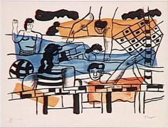 The pool - Fernand Léger