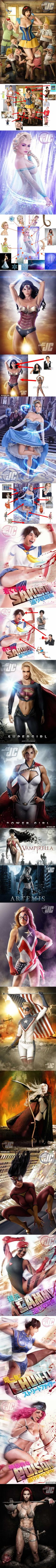 These Sexy Well-Known Characters Are Digitally Composited… By Stock Photos?! (Artist: Jeff Chapman)