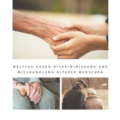 𝗪𝗲𝗹𝘁𝘁𝗮𝗴 𝗴𝗲𝗴𝗲𝗻 𝗗𝗶𝘀𝗸𝗿𝗶𝗺𝗶𝗻𝗶𝗲𝗿𝘂𝗻𝗴 𝘂𝗻𝗱 𝗠𝗶𝘀𝘀𝗵𝗮𝗻𝗱𝗹𝘂𝗻𝗴 ä𝗹𝘁𝗲𝗿𝗲𝗿 𝗠𝗲𝗻𝘀𝗰𝗵𝗲𝗻 ☹️ Leider muss es diesen Tag geben - öfter als man sich vorstellen kann werden ältere und alte Menschen sowie pflegebedürftige Menschen psychisch und auch physisch misshandelt. Und auch wenn es hart ist zu sagen: ja, auch in der professionellen Pflege! 😡  Alte Menschen haben genauso ein Recht auf Respekt und Wertschätzung wie alle anderen auch, auch wenn sie dement sind… Holding Hands, Respect, Nursing Care, People