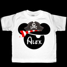 Glow in the Dark Pirate Mickey Mouse Shirt