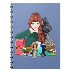 Black German Shepherd Puppies, School Notebooks, Gifted Education, Quinceanera Invitations, Lined Page, Girl And Dog, Custom Notebooks, S Girls, School Design