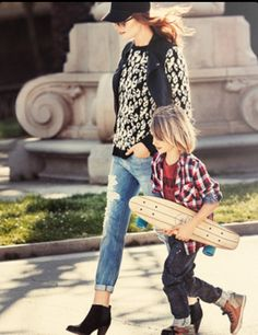 Fashionable mom and son!