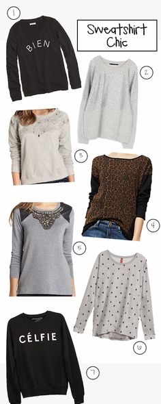 Chic embellished sweatshirts for fall