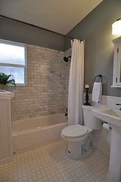Wall color.  Bathrooms On A Budget Design Ideas, Pictures, Remodel, and Decor