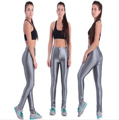 Glossy Colored Skinny High Waist Fitness Pants Fitness Pants, Workout Pants, High Waist, Skinny, Clothing, Sports, Color, Collection, Dresses