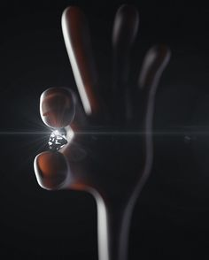 Looking for diamonds. #maxon #cinema4d #c4d #everyday #dreamcreatepursue #hand #love #lighting #drama by jonny_pants