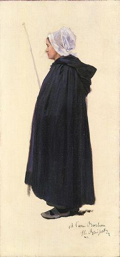 Henri Brispot: Study of a Breton Woman by deflam, via Flickr