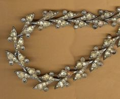 vintage rhinestone necklace section for by beadtopiavintage #repurpose rhinestone #antique rhinestone