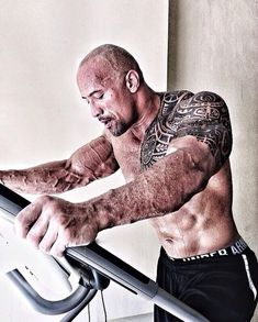 Also, arm veins: | 32 Photos That Prove The Rock Turned Into An Actual Super Human In 2013