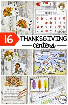 Get into the Thanksgiving spirit with 16 motivating math and literacy activities that are perfect for pre-K and kindergarten. The Thanksgiving pack includes ABC games, counting activities, sight word games, little readers! Fall Preschool Activities, Thanksgiving Activities For Kids, Thanksgiving Preschool, Counting Activities, Phonics Activities, Preschool Literacy, Language Activities, Educational Activities, Kindergarten Language Arts