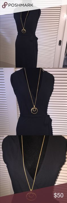 Calvin Klein Black wrap Dress Great dress for work or fun. Lightweight. Size Small. Black. Worn a few times in great condition Calvin Klein Dresses