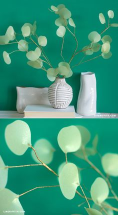 DIY #PaperFlower Eucalyptus Branch Pattern and Tutorial at www.LiaGriffith.com