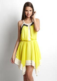 Do & Be Yellow/Cream/Black colorblock dress $29.99  http://www.ideeli.com/invite/albacarrico0