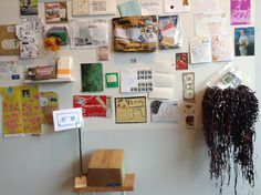 Installation detail by artist Anne-F, from exhibition Crustacés Tapes & Collecting Friends