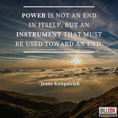 Power is not an end but an instrument. #power #leadership