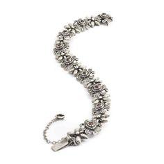 Aurora Patina Zilveren armband uit de Jugendstil periode met granaten