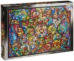 Disney Stained Art Jigsaw Puzzle[1000P] All Stars Stained Glass (Ds-1000-764), 2015 Amazon Top Rated Jigsaw Puzzles #Toy