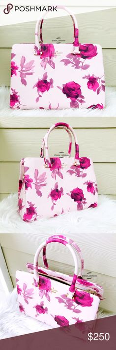 "🌸Kate Spade Emerson Place Olivera Roses Tote🌸 💟Gorgeous rose print bag!  🎀Brand new with tag; In perfect condition no damages. Due to the material of the bag, the leather might look ""dirty"" in certain lighting, but it's just the way this style is :)  ✔️All items 100% Authentic; ⛔️NO TRADES;  💰REASONABLE offers will only be considered through the offer button. NO lowballs, please; 🌷Smoke free, pet free home; 🚫Promotion of other closets in my listings is not appreciated and will be…"