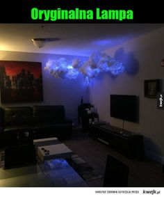 33 Badass Things You Didn't Know You Wanted Until Now - Ftw Gallery Dark Ceiling, Ceiling Lights, Ceiling Stars, Cloud Lamp, The Darkest, Living Room Decor, Geek Stuff, Clouds, Entertaining