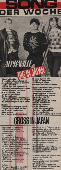 """Alphaville - """"Big in Japan"""""""