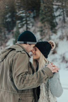 Snowy Mountain Engagements | Utah Wedding Photographer | Emily Jenkins Photography