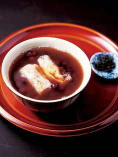 Japanese Zenzai, Sweet Azuki Bean Soup with Mochi | Kyoto, Japan 京都ぜんざい