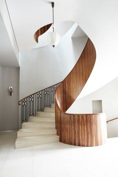 Peter Mikic Interiors is a London based interior design and architecture studio specialising in detail driven luxury projects for private clients and developers Painted Staircases, Staircase Railings, Modern Staircase, Spiral Staircase, Staircase Design, Stairways, Staircase Ideas, Stair Design, Interior Stairs