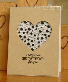 Ich habe nur Augen fr dich! - aber davon scheinbar viele. Niedliche Idee fr eine Valentinskarte. #stampinup #valentinstag