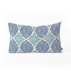 Belle13 Curly Rhombus Oblong Throw Pillow | DENY Designs Home Accessories