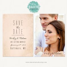 Save the Date Card - wedding postcard - Vintage Postcard