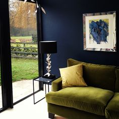 If you happen to have green furniture ... dark hues compliment the style :D