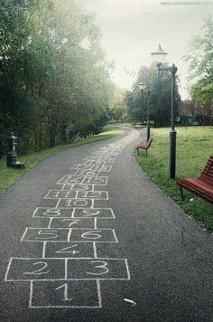 Public Play Spaces public-street-art-in-public-space pins-i-love Make this permanent in a park! Visual Thinking, Hopscotch, Jolie Photo, Parcs, Public Art, Public Spaces, Urban Art, Black And White Photography, Art Photography
