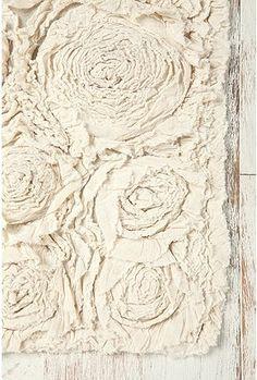 Bed Of Roses Bath Mat, Ivory - eclectic - bath mats - Urban Outfitters Bathroom Rugs, Bath Rugs, Bathrooms, Bathroom Ideas, Bath Linens, Bathroom Stuff, Design Bathroom, Bathroom Flooring, Bathroom Storage