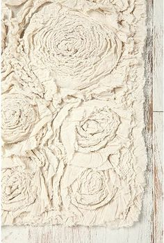 Frayed Roses Bath Mat #urbanoutfitters $34. the perfect piece for a rustic bath.