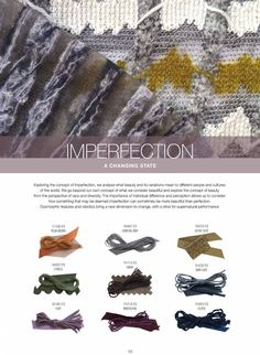 FASHION VIGNETTE: TRENDS // SPIN EXPO - YARN COLLECTIONS . IMPERFECT...