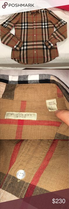 Burberry Button Down Shirt Men's size S Burberry button down shirt, size S. Authentic, purchased from Burberry website. New condition, barely worn. Made of Linen (keeps you cool during hot months). Retail $330 Burberry Shirts Casual Button Down Shirts