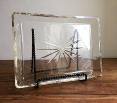 Mid Century Modern Sunburst Glass Vanity Tray