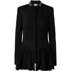 PREEN Crystal Collar Coat ($2,210) ❤ liked on Polyvore