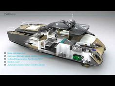 Power Catamaran Concept eCat hybrid by Juri Karinen Sailing Kayak, Power Catamaran, Marine Engineering, Bus House, Boat Projects, Yacht Design, Motor Yacht, Boat Building, Transportation Design