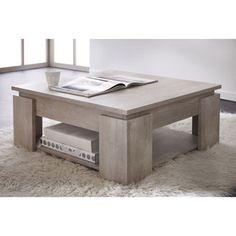 Table basse carrée en bois L80 x H36 cm SEGUR